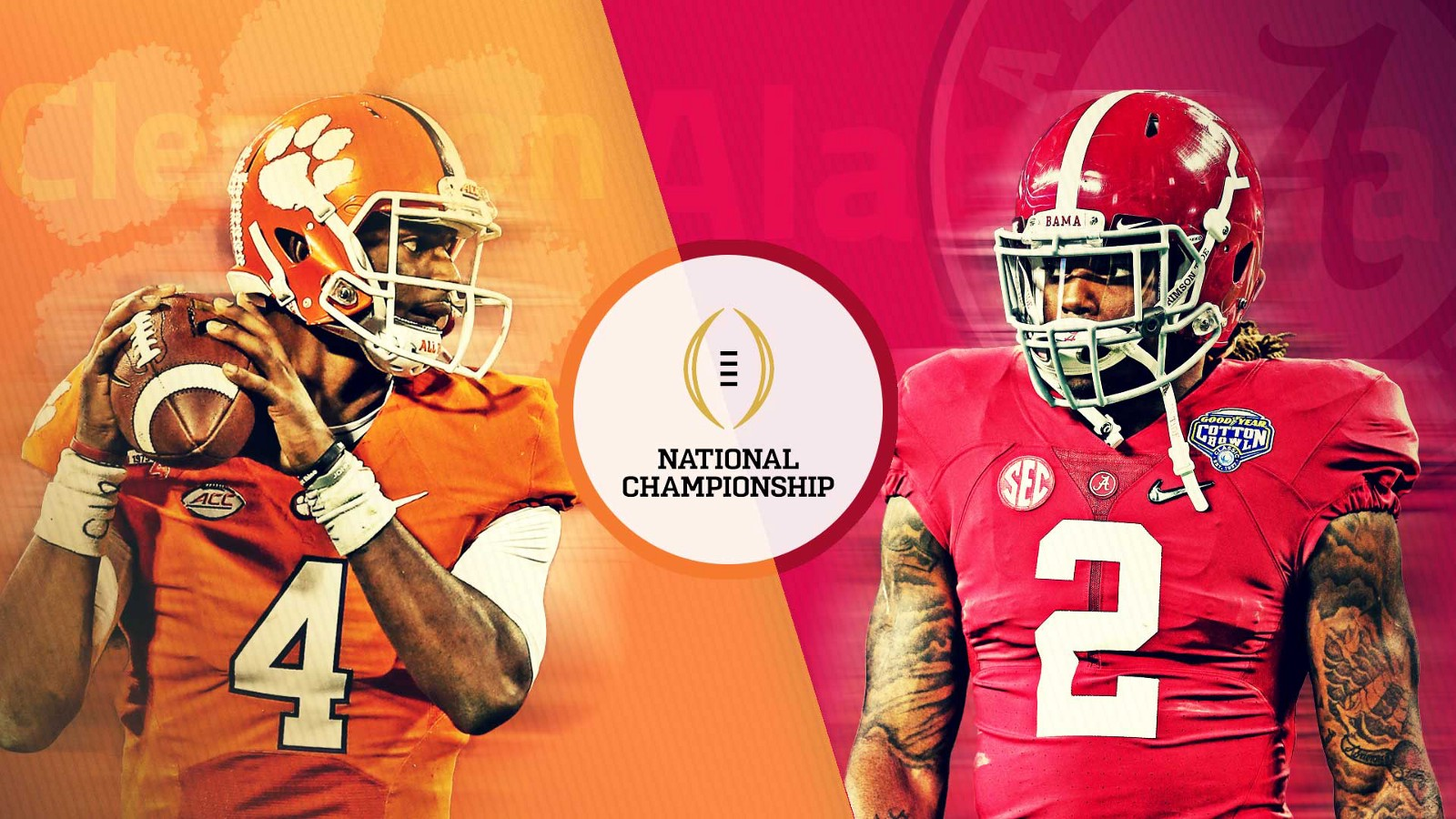 The 2017 National Championship Alabama And Clemson Round 2