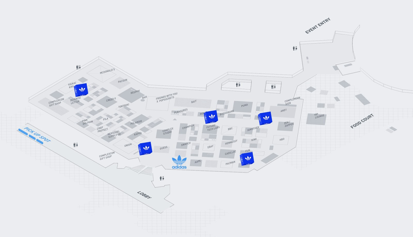 low priced 933e2 9fa74 When a user made it to the waypoint, they would find a large, adidas-branded  cube hanging from the ceiling. Proximity beacons around this area activated  the ...