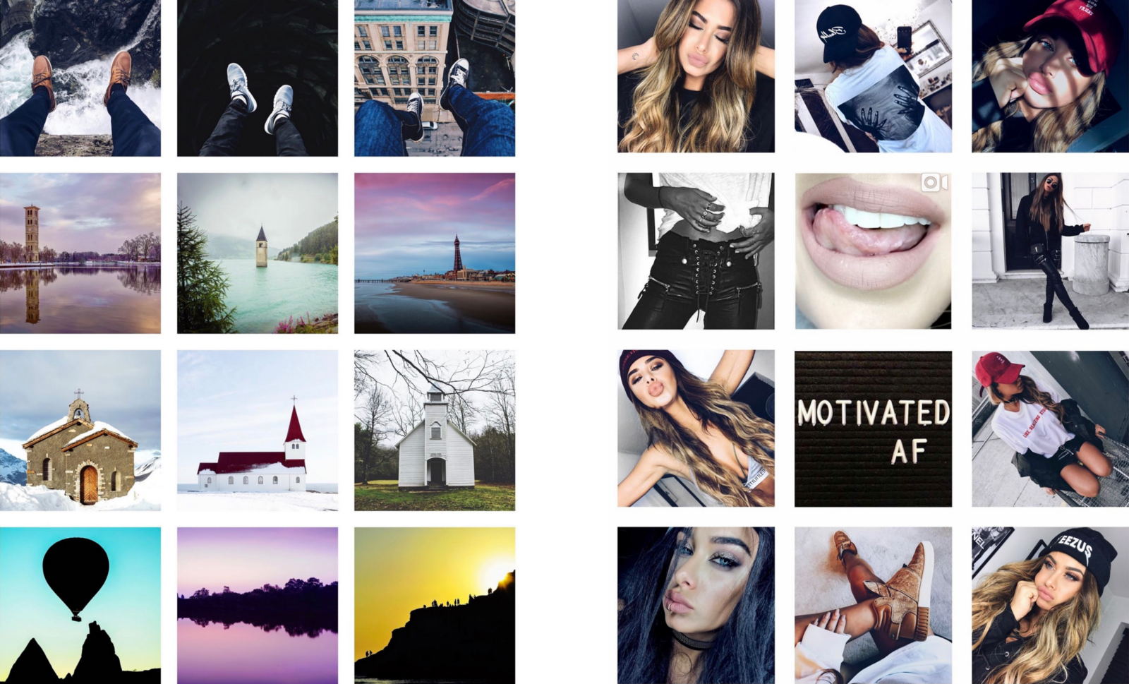 Instagram Trend: Square White Border – InstaSize™ – Medium
