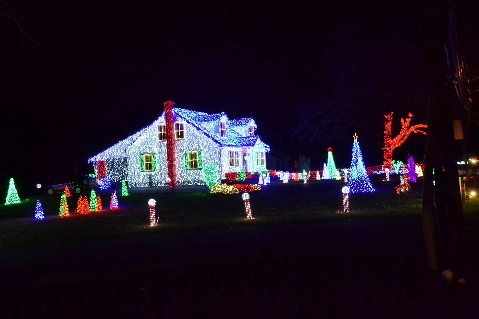 roxanne ardary of long foster real estate opens 2017 marltons best christmas lights contest - Best Christmas Light Show
