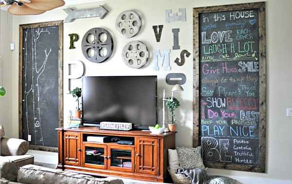 15 Ideas About Decorating Wall Behind The TV – Betty Moore – Medium