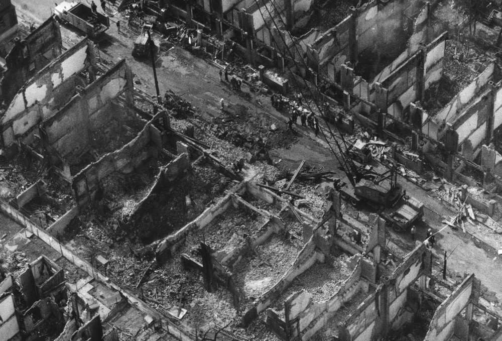 the 1985 bombing of the move organization in a west philadelphia residential neighborhood killed 11 people including five children and destroyed 61