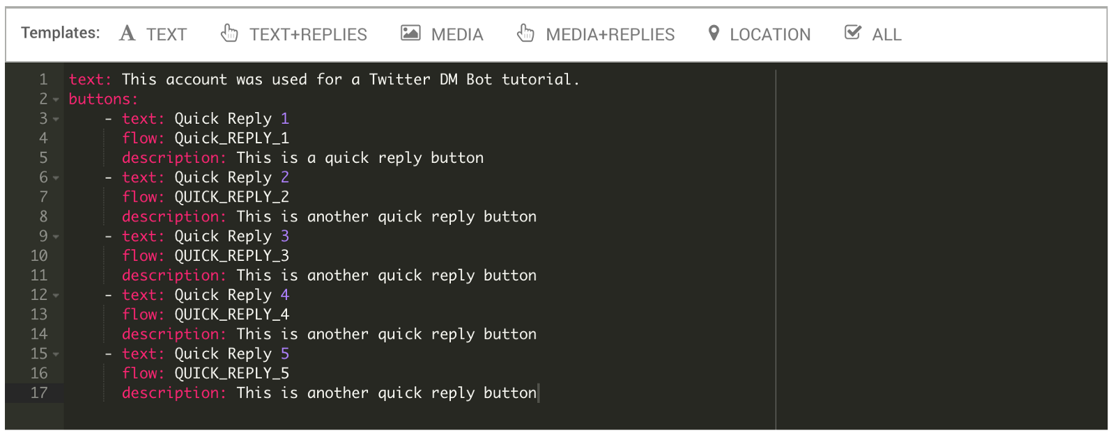 how to create a text twitter bot