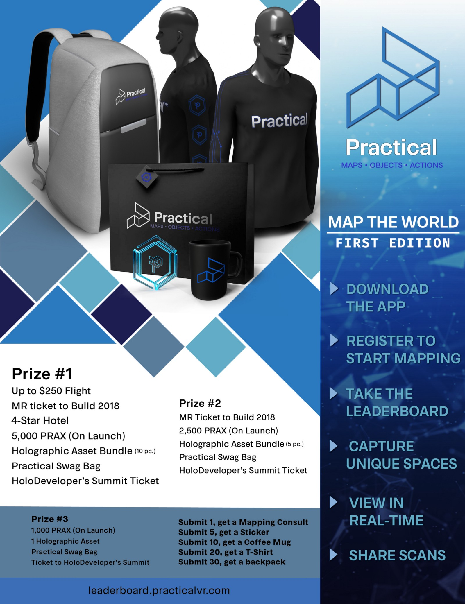 Introducing the practical map the world first edition contest but if you are among the top 3 mappers then you have the opportunity for some big prizes with such things as tickets to build holographic assets from our gumiabroncs Choice Image