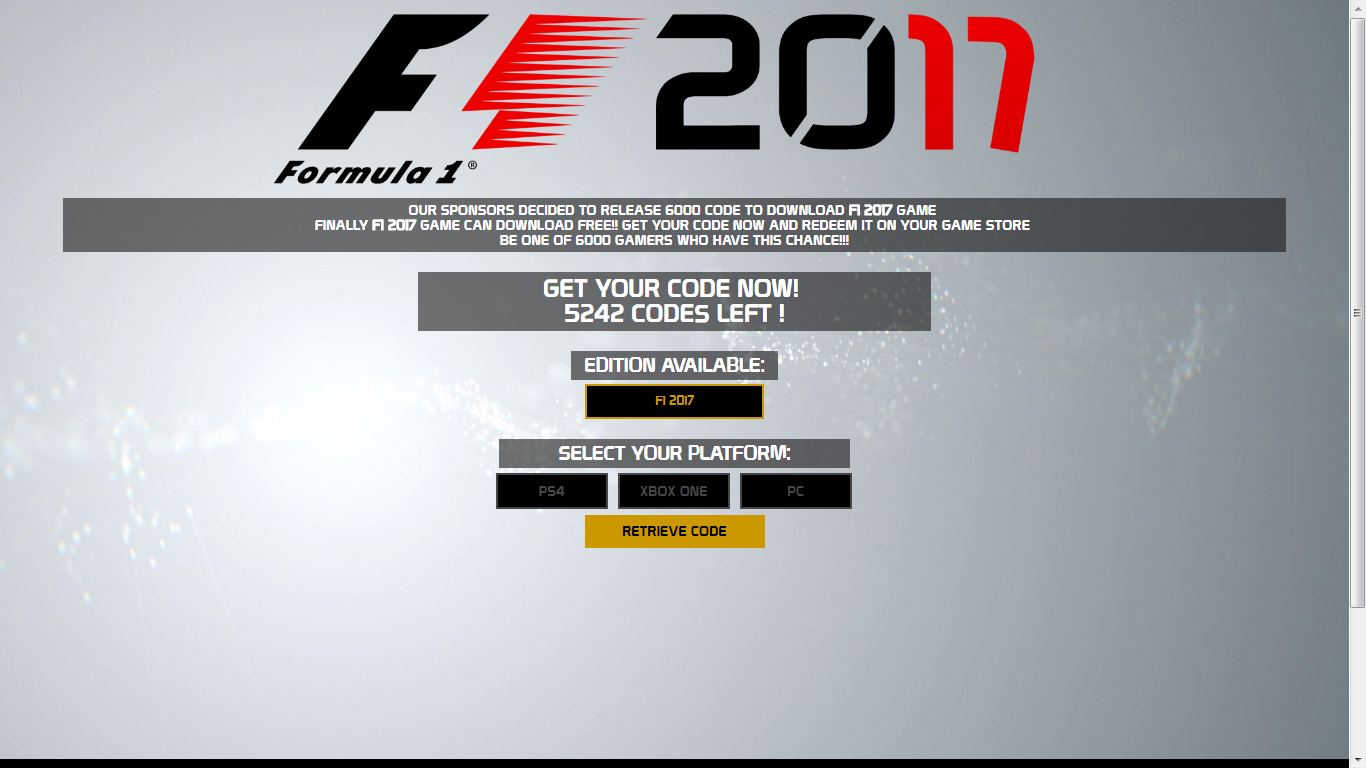 f1 2017 cd key serial generator download full xbox one ps4 pc. Black Bedroom Furniture Sets. Home Design Ideas