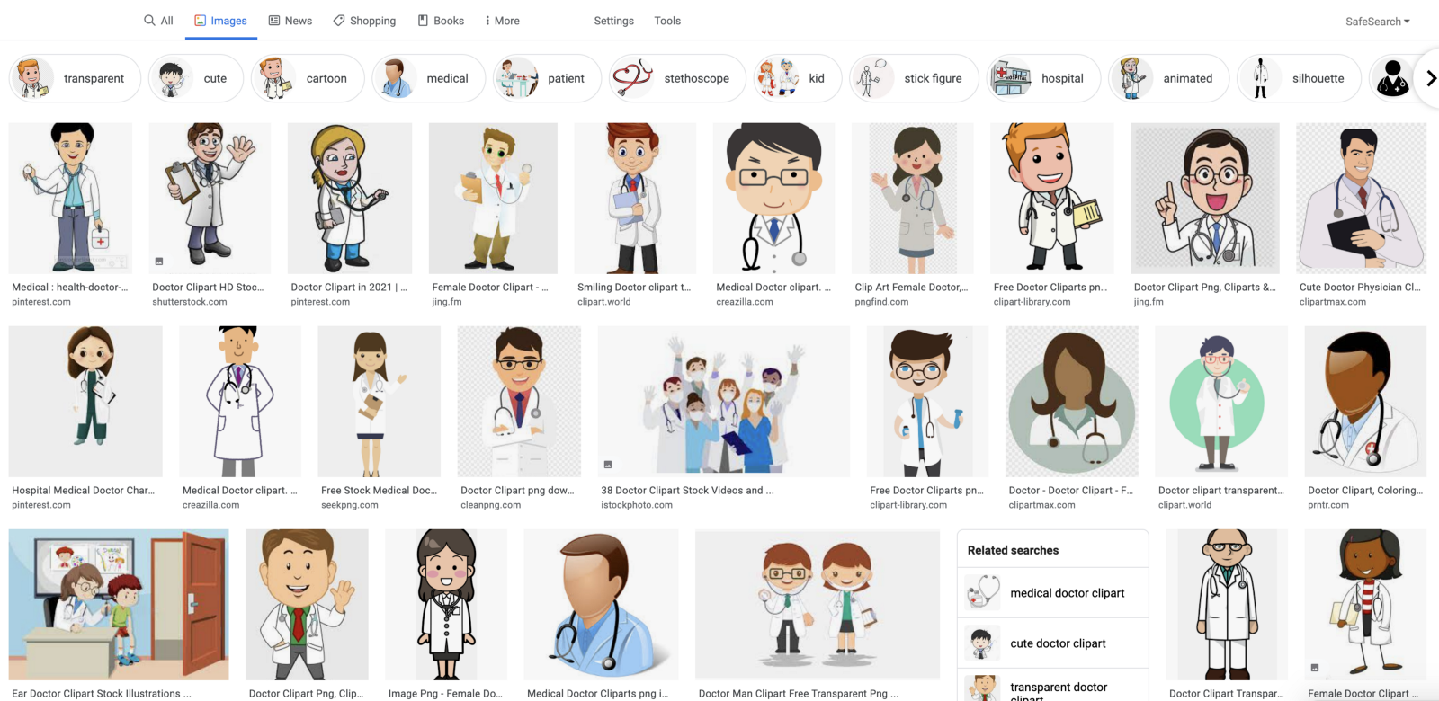 Google Image Search, doctor clipart.