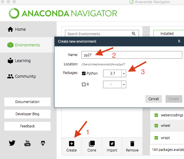 Anaconda install in environment | Set up a Python development