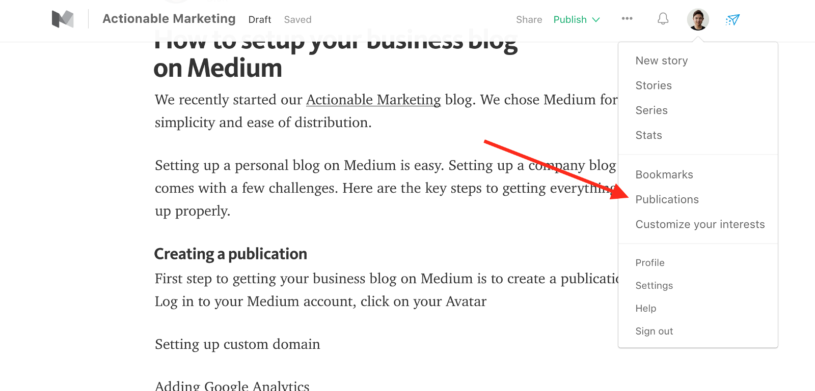 How-to Create a Publication that is Good
