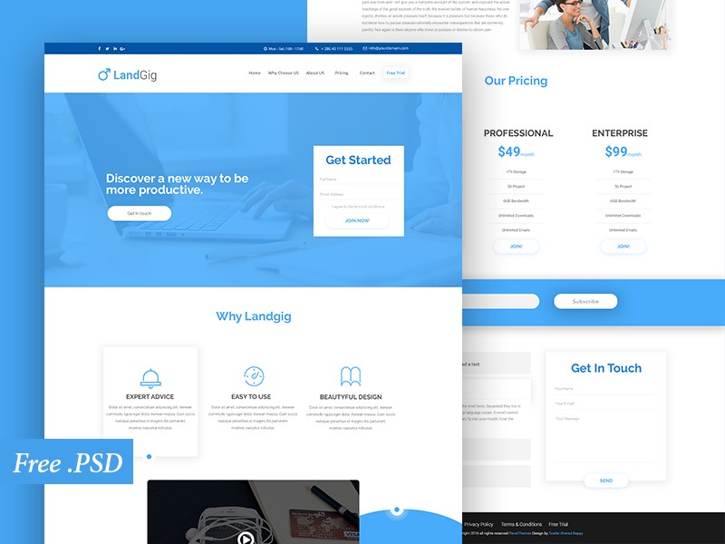 Free Page Templates Geccetackletartsco - Website landing page templates