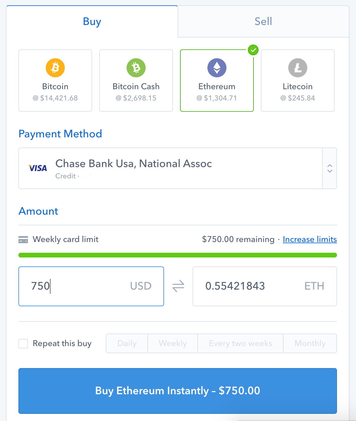 buy cryptocurrency with usd credit card