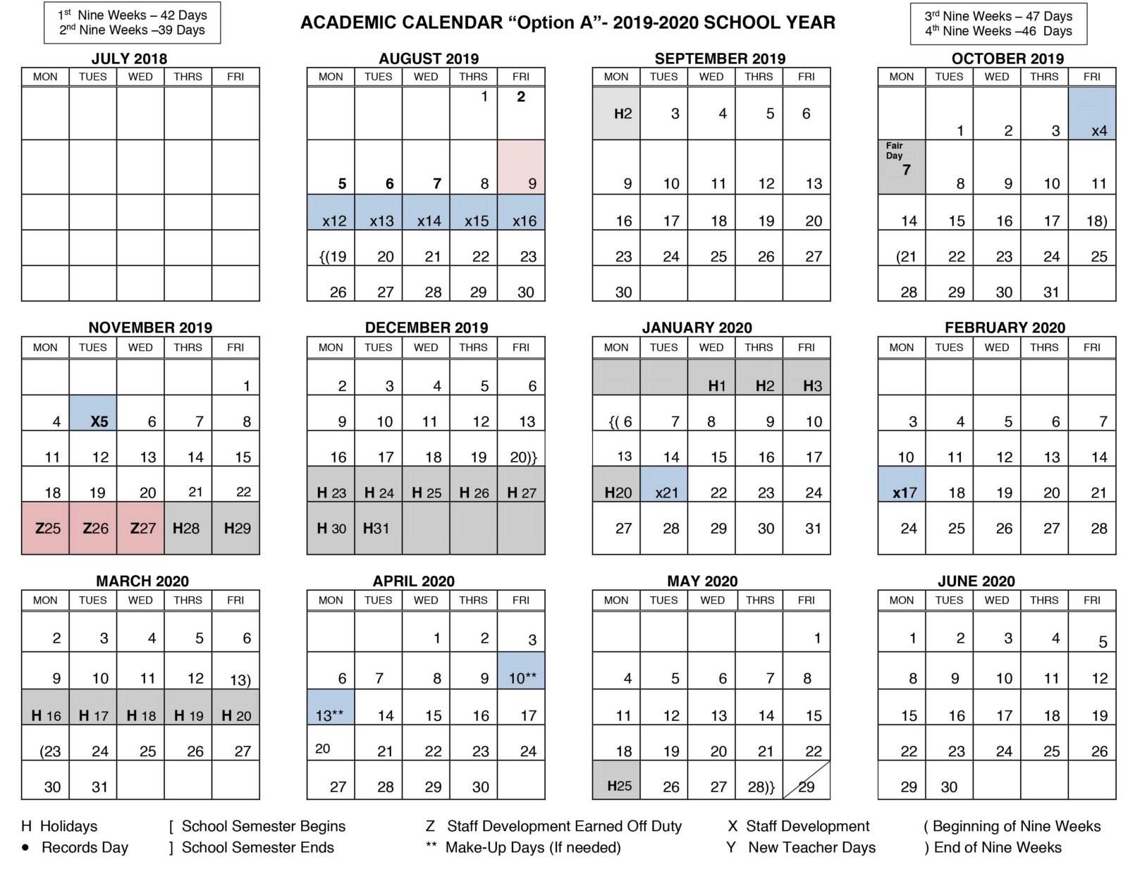 Board Discusses 2019 2020 Student Academic Calendar