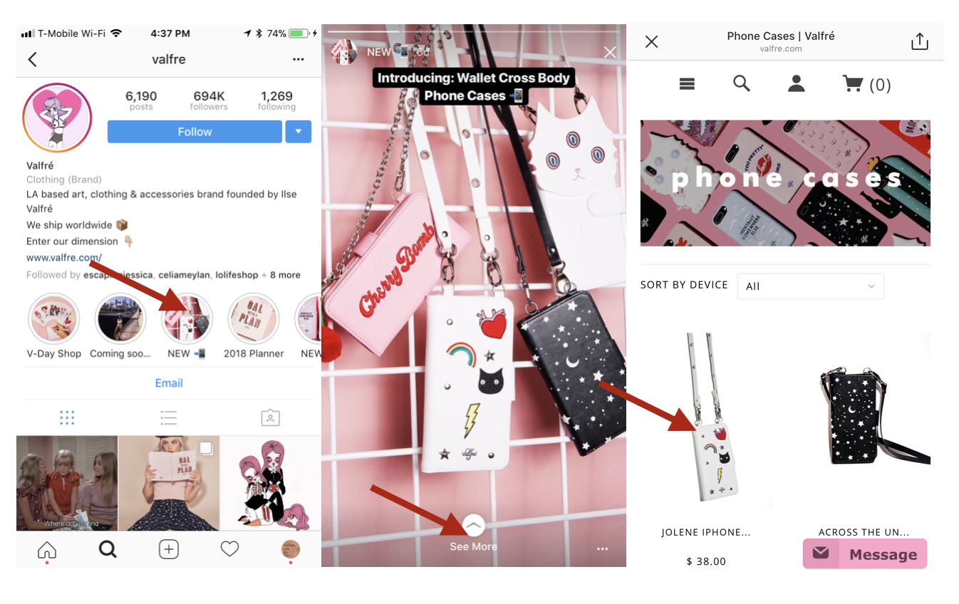 How to use instagrams story highlights for your business before story highlights such quick and easy access to external product pages was not possible ccuart Images