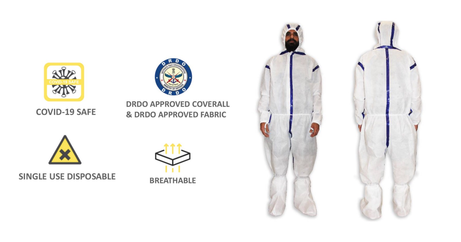 Medical & Surgical PPE Coverall by Crea Worldwide