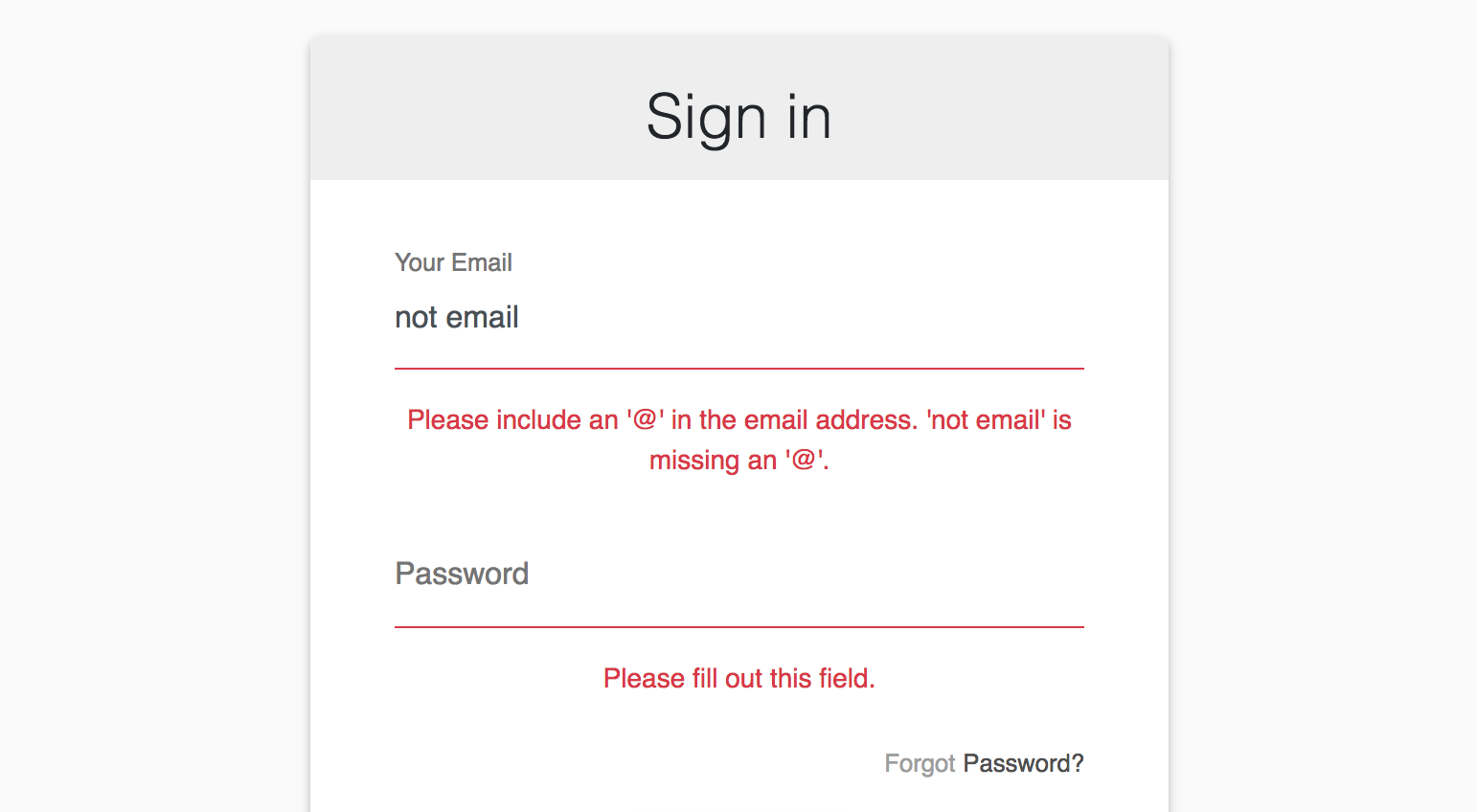 Html5 self validating forms html