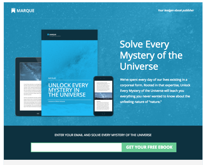4 steps to promote your companys free ebook copywriting blog ebook landing page template from unbounce fandeluxe Gallery
