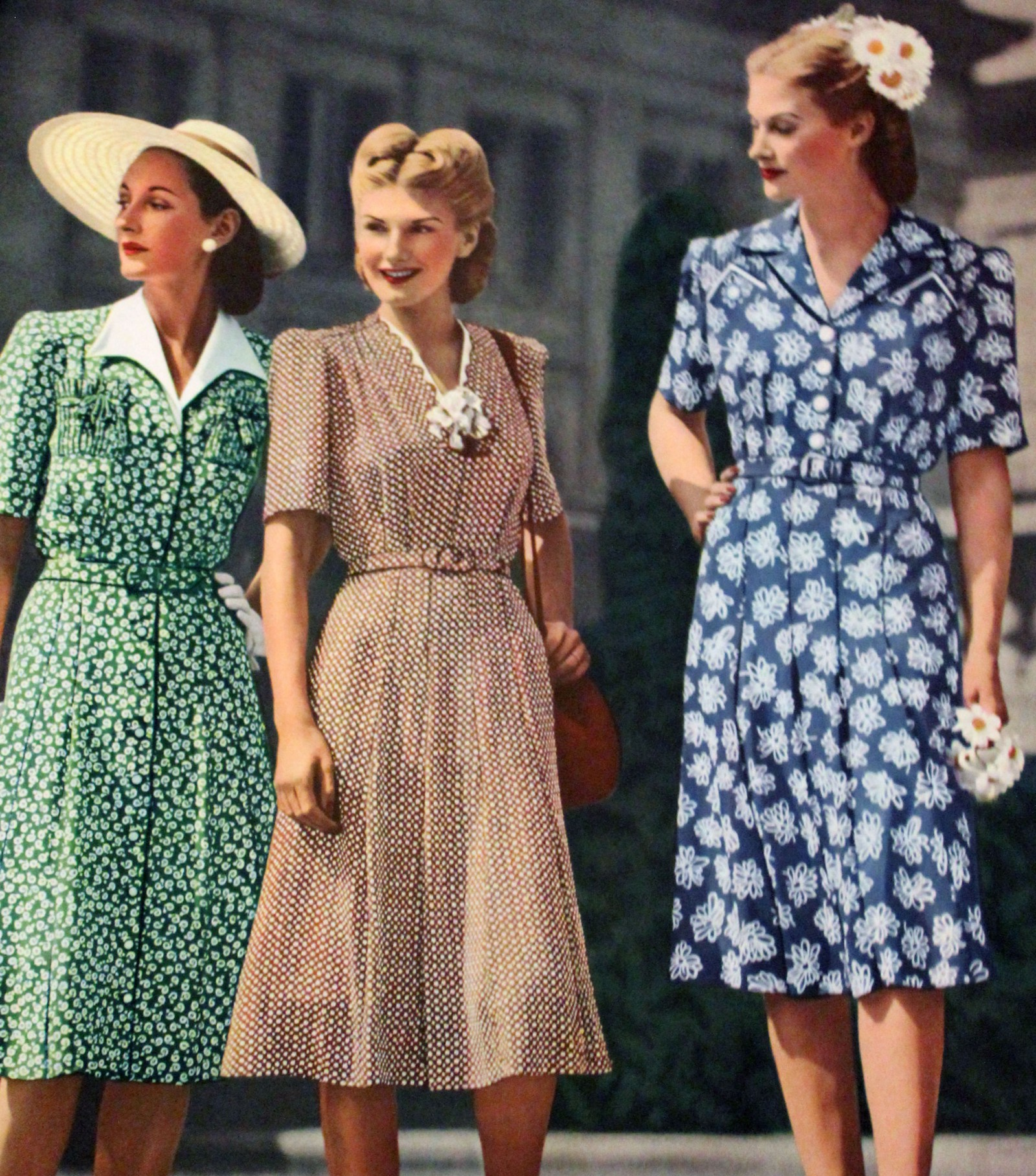 fbc44fb5585 Neither Short Nor Long Sleeves — Dresses in the early 40 s had sleeves that  ended just above the elbow or mid forearm. Except for the Kitty Foyle style  ...
