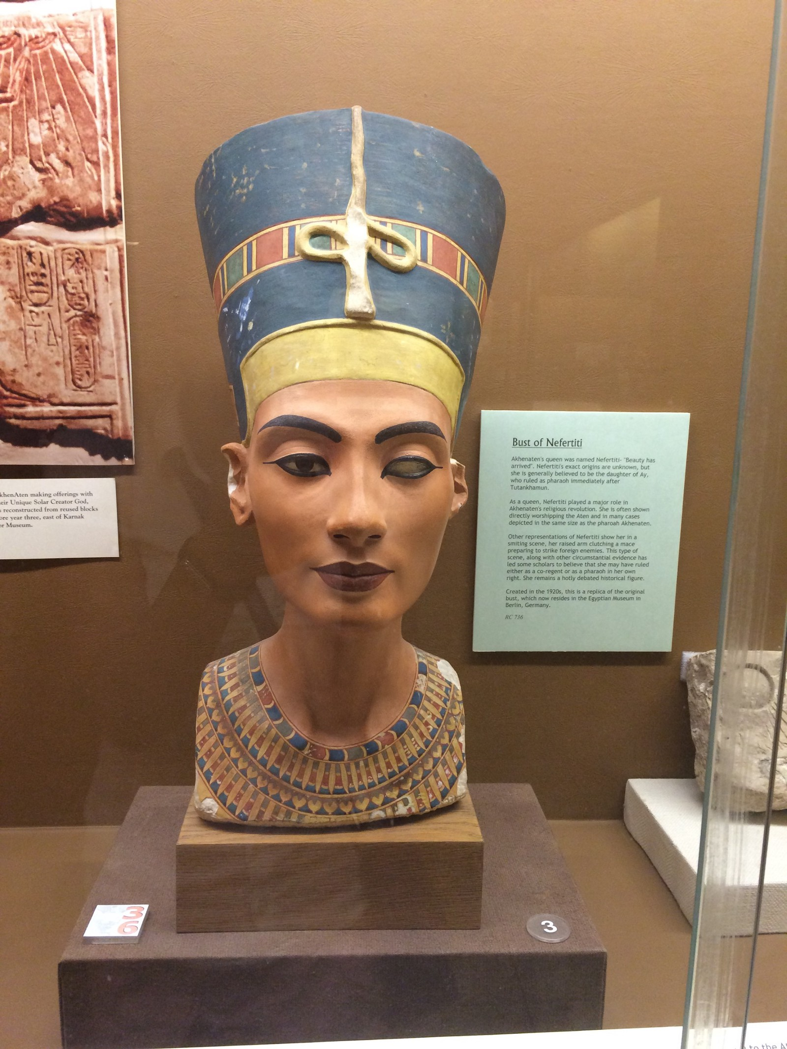 bust of nefertiti rosicrucian egyptian museum essay Synopsis nefertiti, whose name means a beautiful woman has come, was the queen of egypt and wife of pharaoh akhenaten during the 14th century bc.