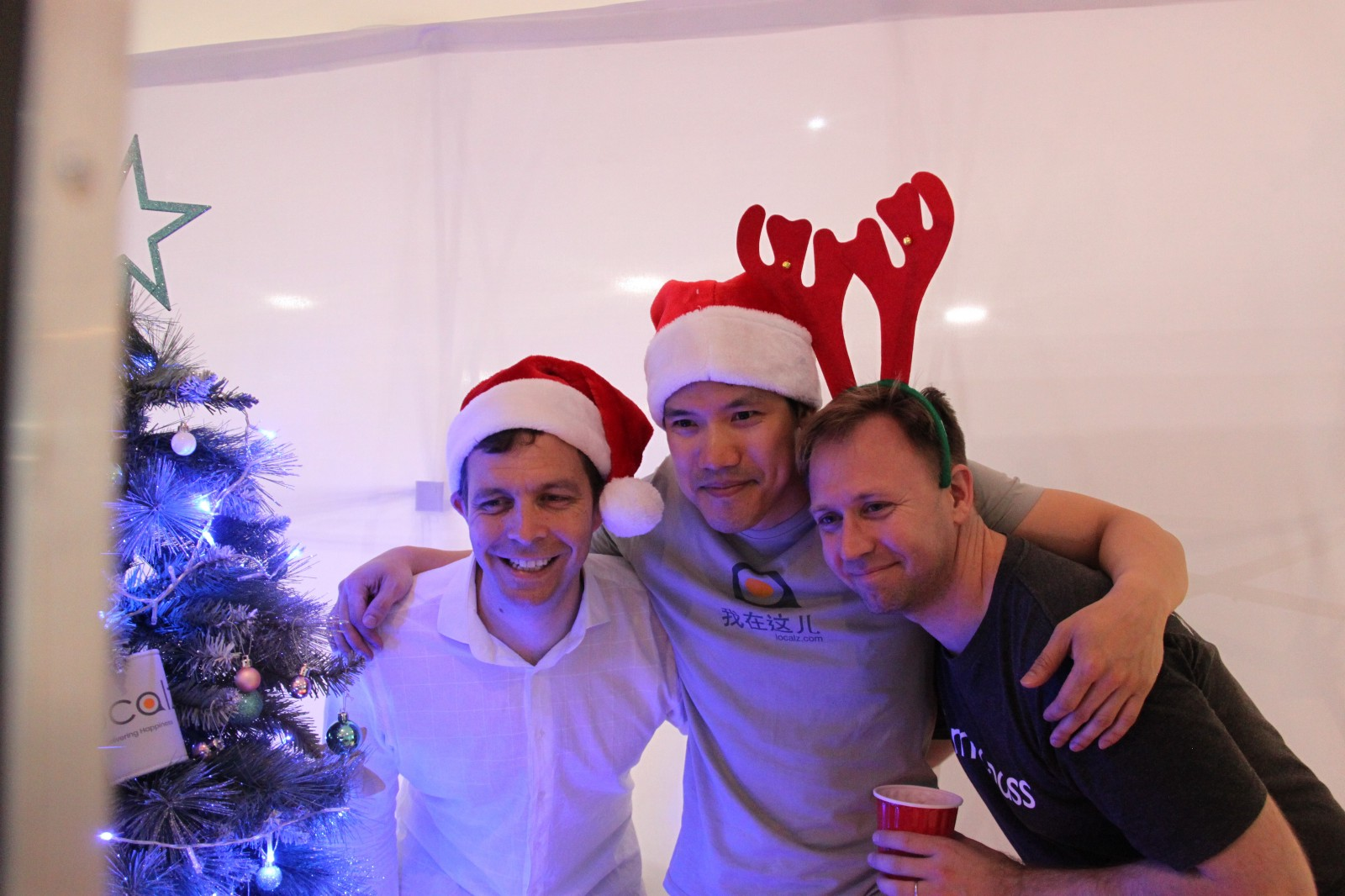 2017 Christmas party with founders