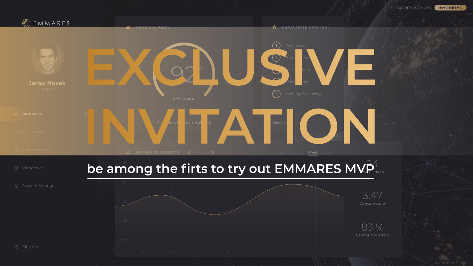 Emmares mvp exclusive invitation emmares medium because we promised and we always keep our promises we are soon announcing emmares mvp since we have received so many questions about the platform and stopboris Choice Image