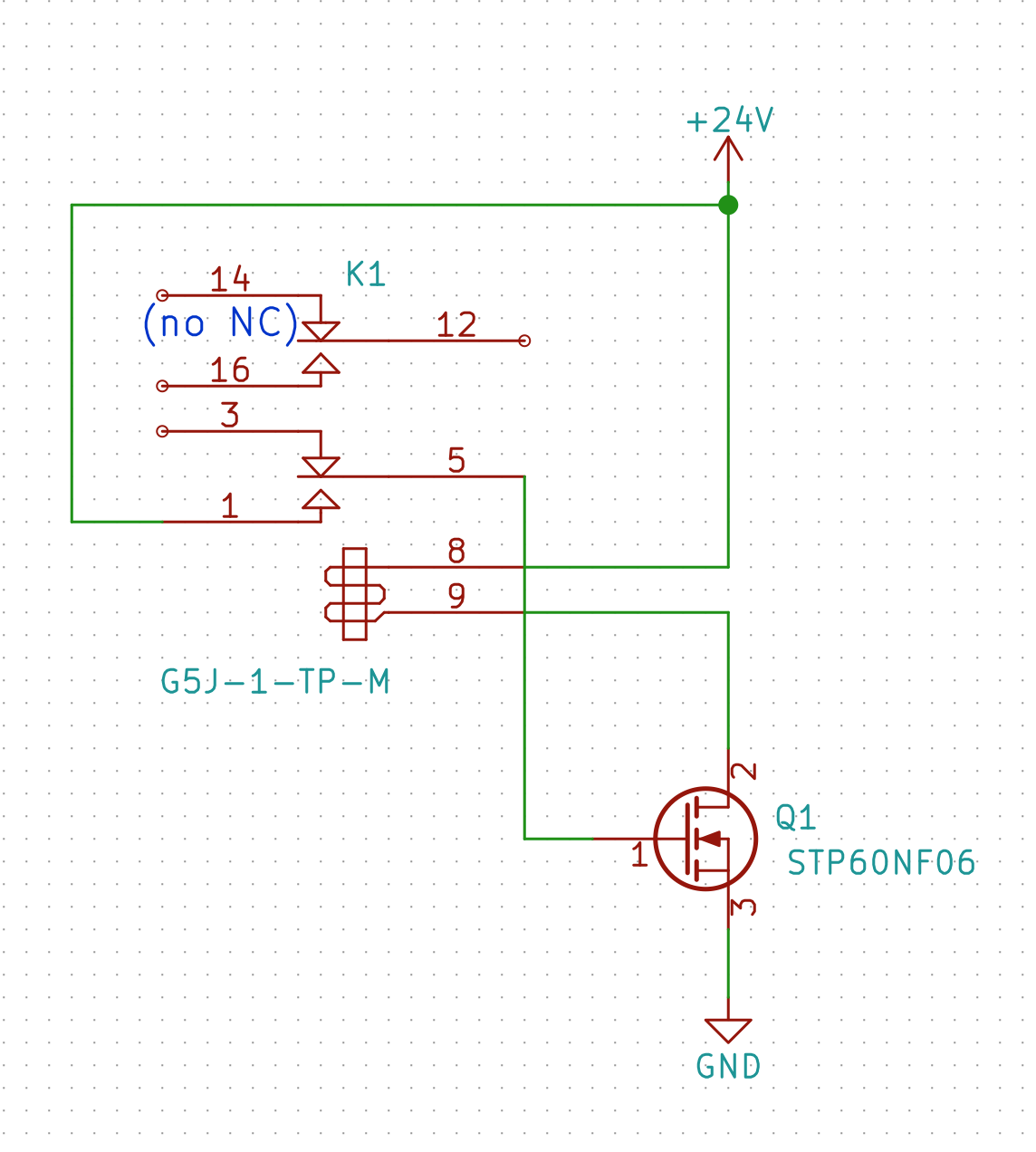 High Voltage Ac Generation Using Relays R X Seger Medium Relay No Nc Contacts When The Closes Note G5j Is A Spst But Kicad Only Had Dpdt Symbol So Thats What Shown Here Gate Pulled