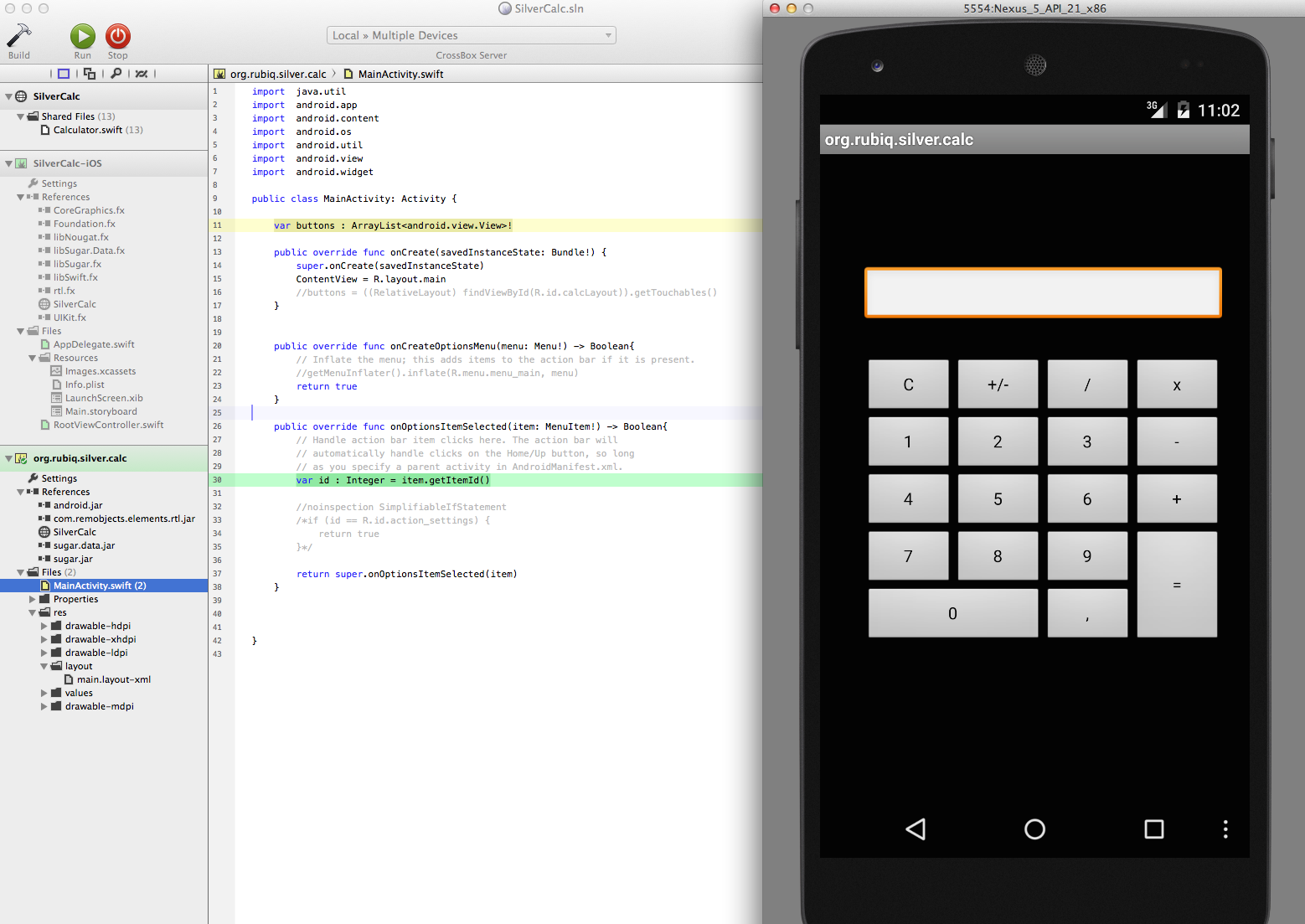 A first look at Silver: how to write a crossplatform iOS / Android app in Swift