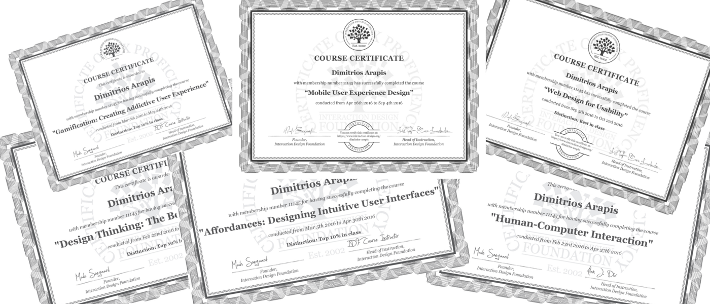 Why does Design needs certification? An Interaction Design