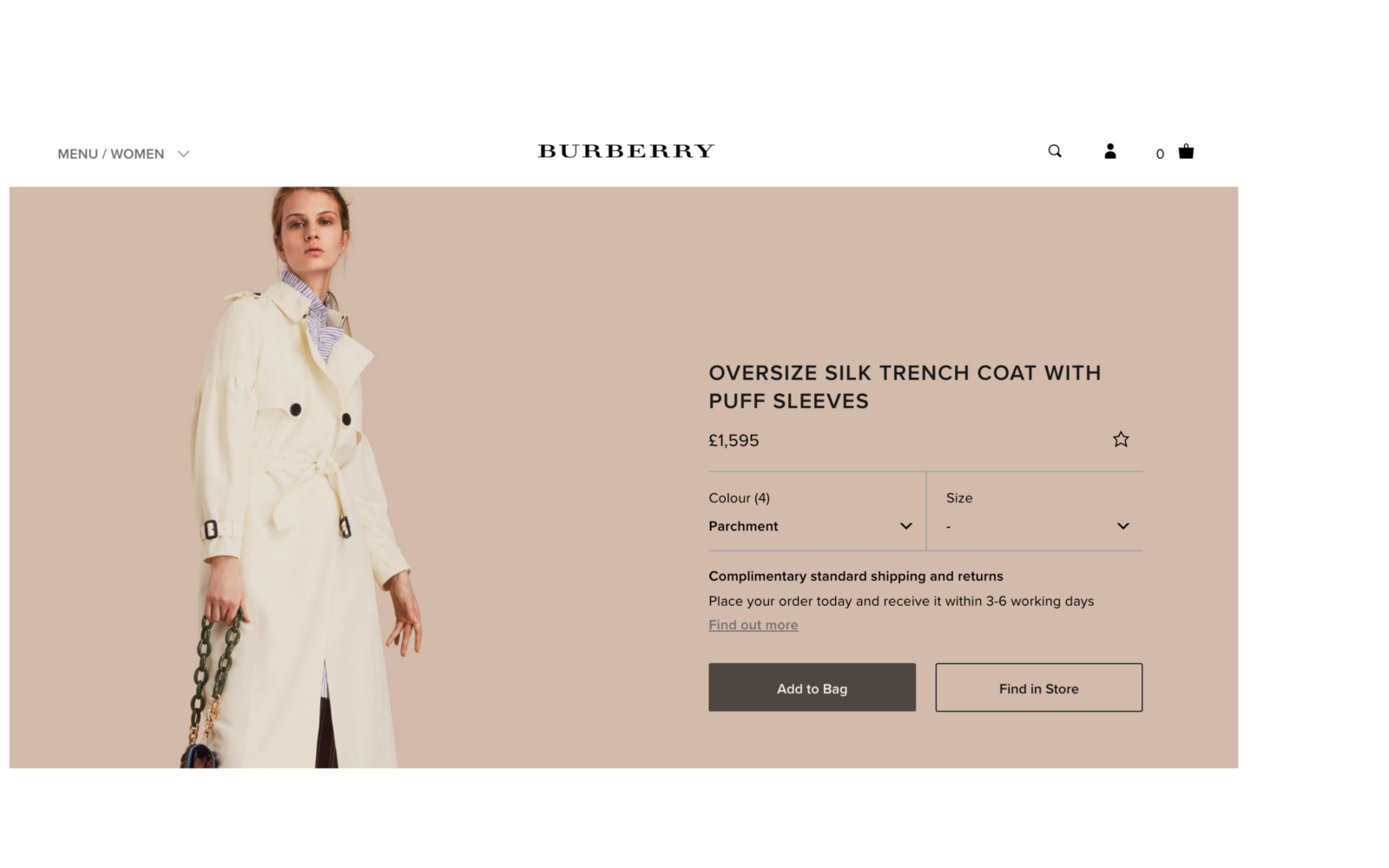 c8284800913 Have a closer look here — https://uk.burberry.com/oversize-silk-trench-coat -with-puff-sleeves-p40422641