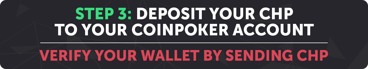 How to Deposit CHP Tokens in CoinPoker