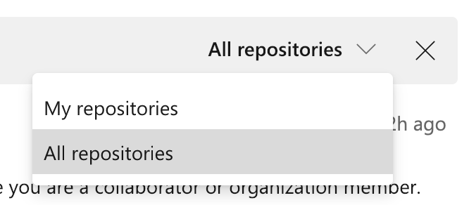 See all repositories