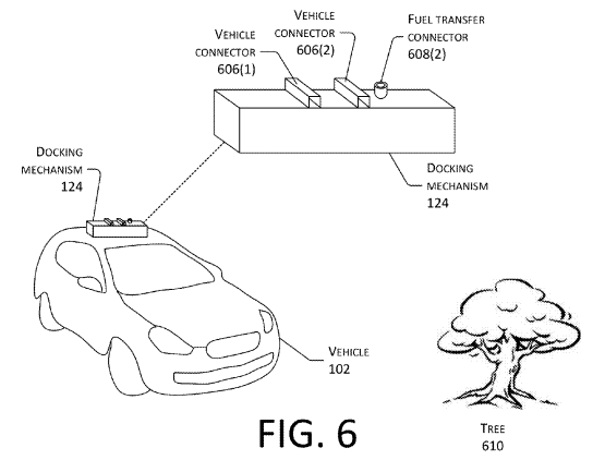 Amazon Patented On The Fly Charging Of Electric Vehicles Using Drones