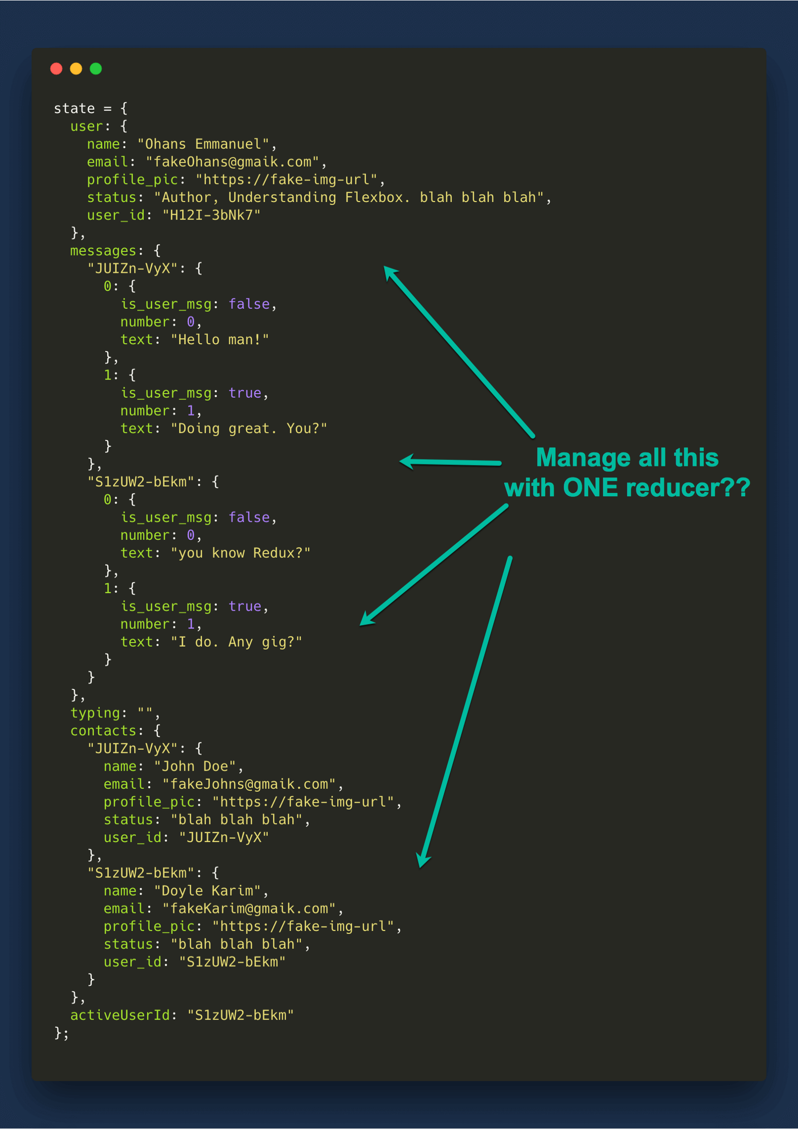 Understanding redux the worlds easiest guide to beginning redux instead of having the entire object managed by one reducer what if we had one reducer manage one field in the state object fandeluxe Images