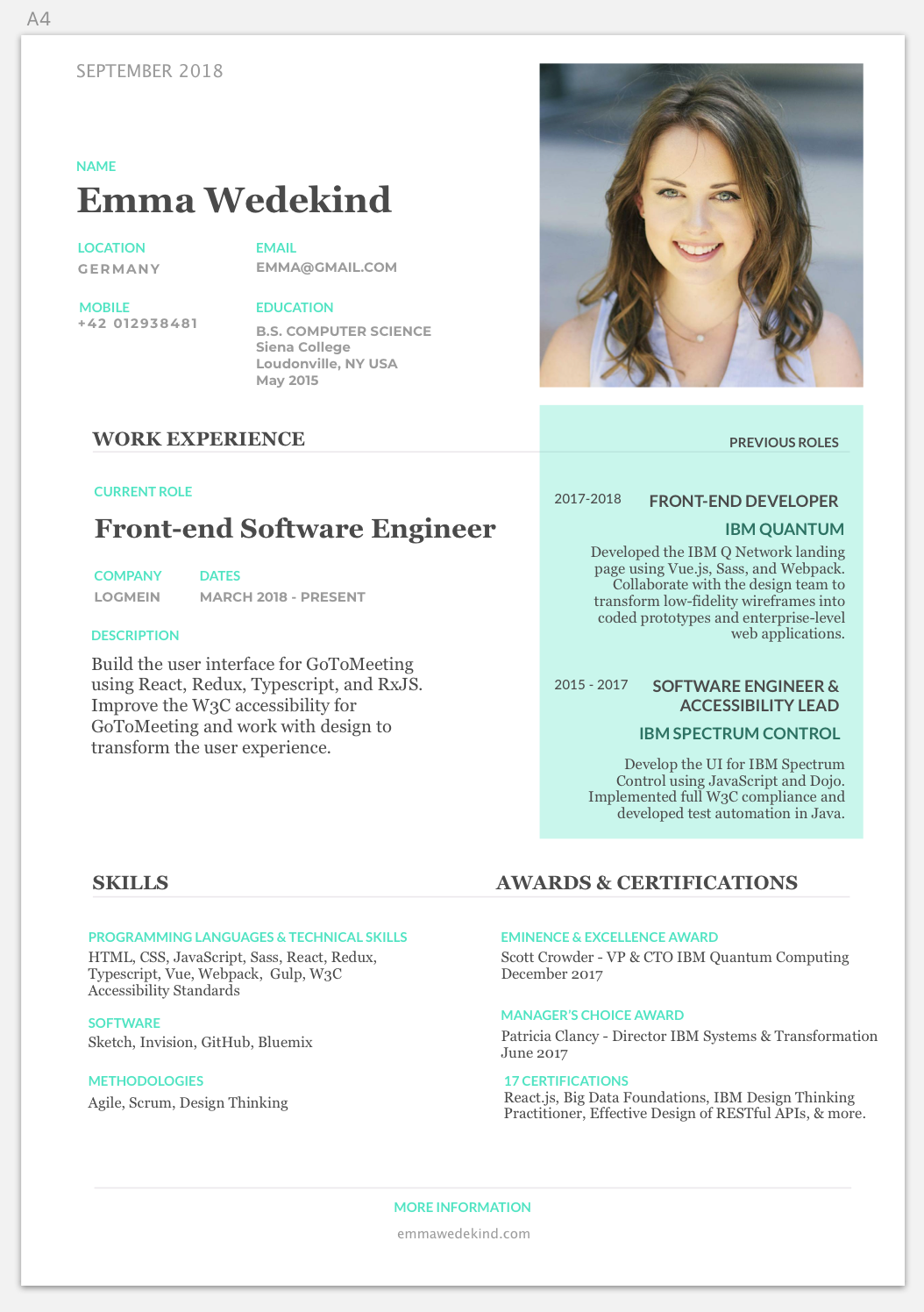 How To Write A Stand Out Technical Resume Gitconnected Com Blog