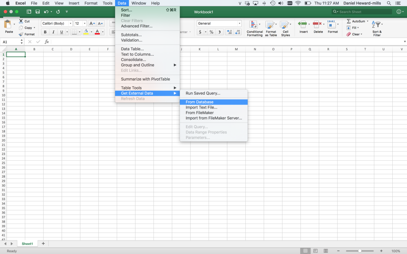 Using Microsoft Excel as a Launch Point for Semantic Web Exploration