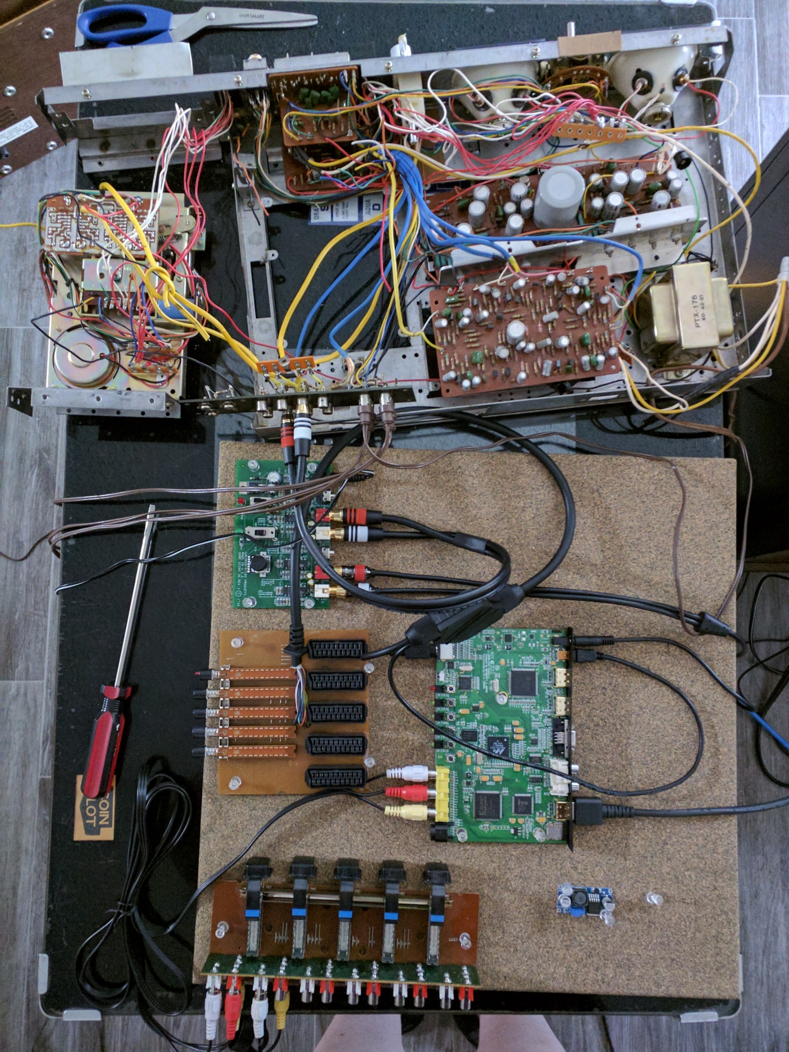 I've already partially dismantled my quadraphonic system to get it ready to  move into a new chassis along with the other components at this point.