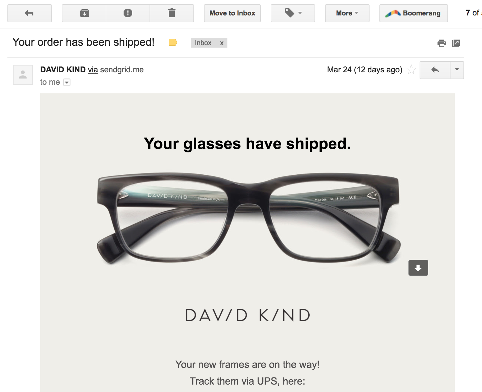 4e26969327 It shipped just 4 days later. And arrived just 3 days after that. So it  took just one week to have my finished glasses in hand.