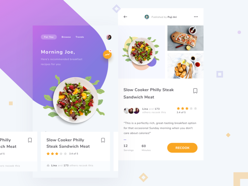 20 fresh food mobile app designs for your inspiration forumfinder Gallery