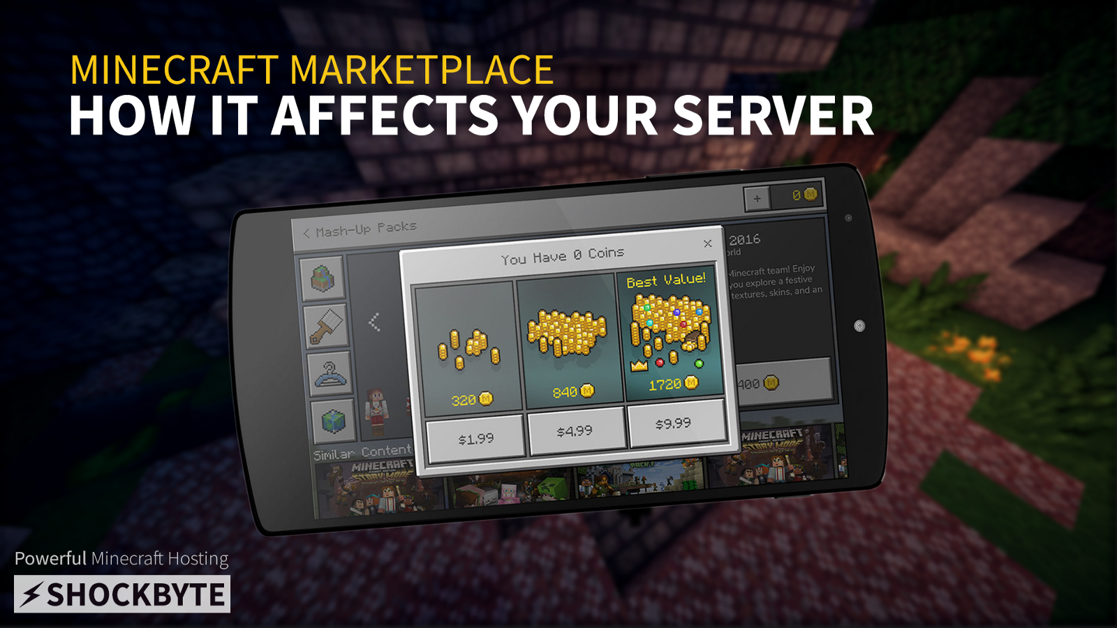 How the minecraft marketplace affects your server shockbyte medium the minecraft marketplace allows you to purchase user created skins maps and texture packs were sure youve heard of it by now so we will only cover how sciox Image collections
