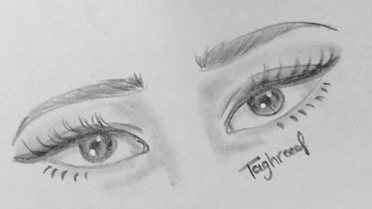 Easy pencil sketch of eyes
