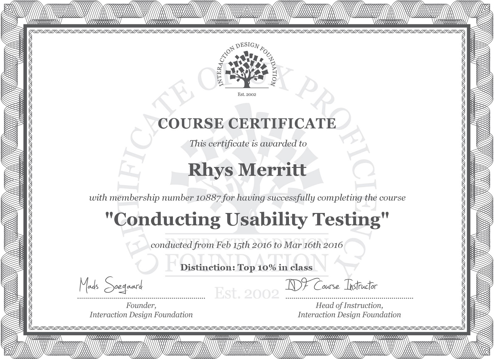 Review of interaction design foundation rhys merritt medium the highest value course that filled a gap in our team was conducting usability testing most importantly though is not that we couldnt conduct usability xflitez Choice Image