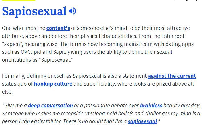 Sapiosexual dictionary definition