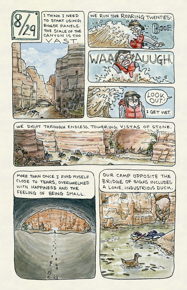 Grand adventure lucy bellwood medium a daily journal comic chronicling a three week whitewater rafting trip through the grand canyon pair with rim to river solutioingenieria Gallery