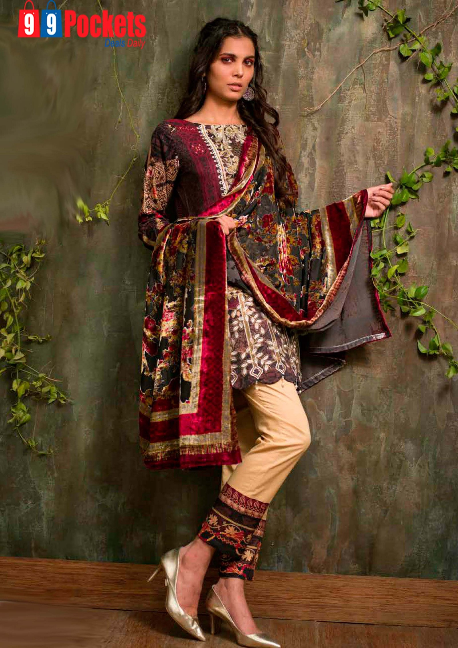 b01ce86a0d41f We have Shahista velvet silk suits for women in basic yet beautiful colors.  They are all-time clothing for the season. They look stylish yet feel warm.
