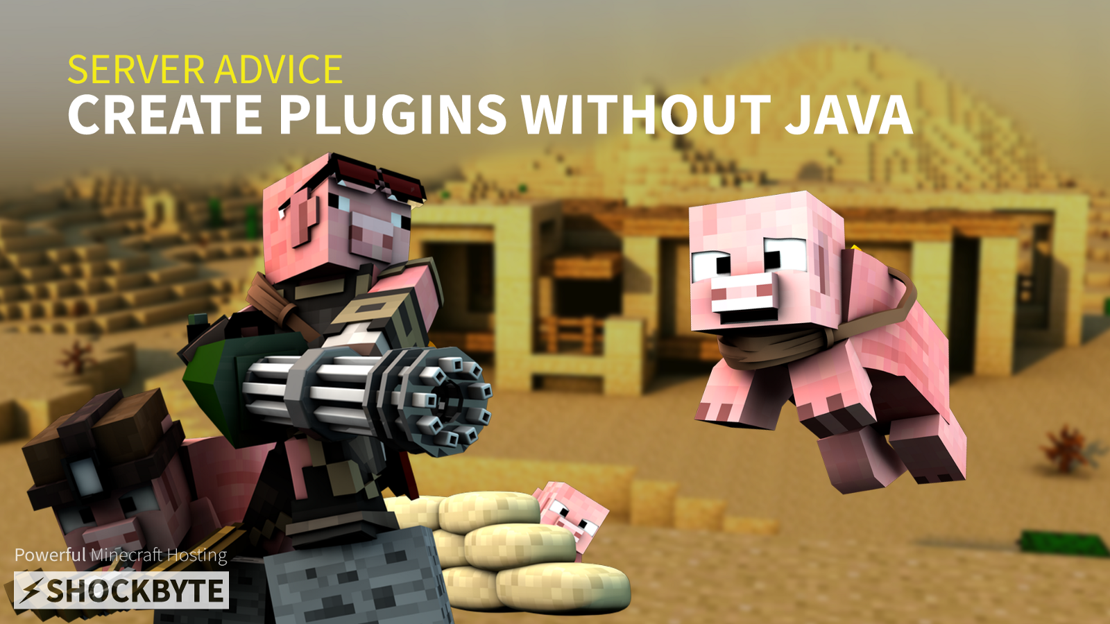 Create Minecraft Plugins Without Java Shockbyte Medium - Minecraft server erstellen spigot