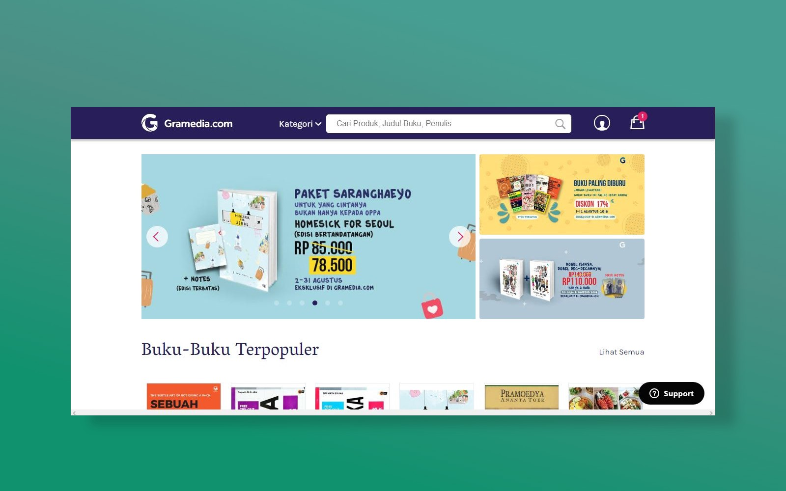 Competitive analysis of online bookstore a ux case study not all products offered on the main page have discounted prices this is maybe because gramedia is not only focusing on book products stopboris Choice Image