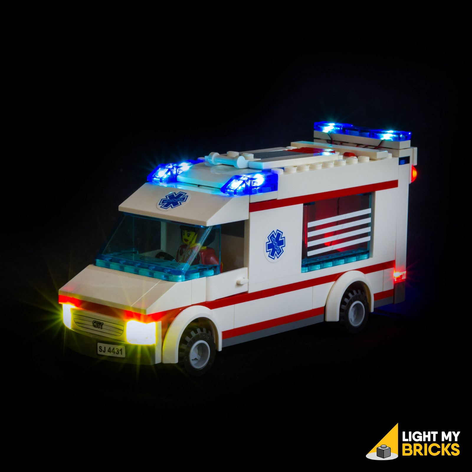 Light my bricks city ambulance lighting kit light my bricks medium - Lego ambulance ...
