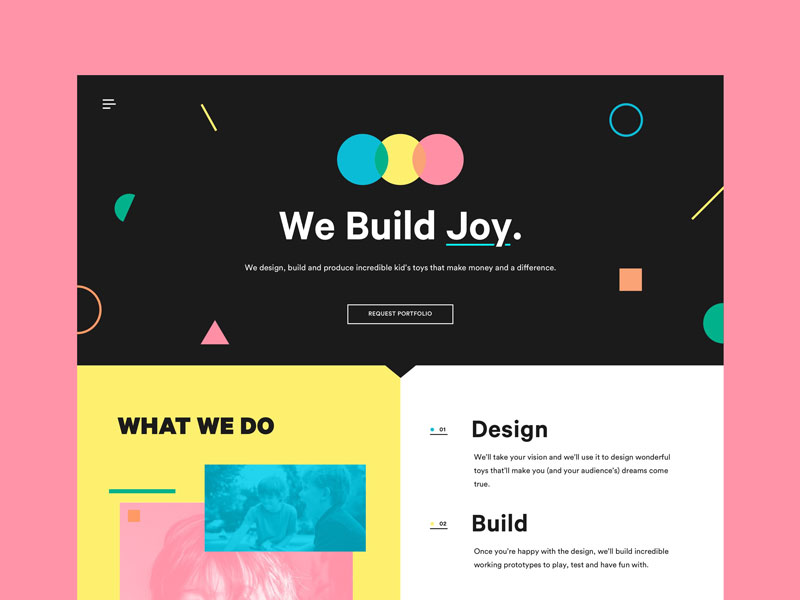 cool landing pages