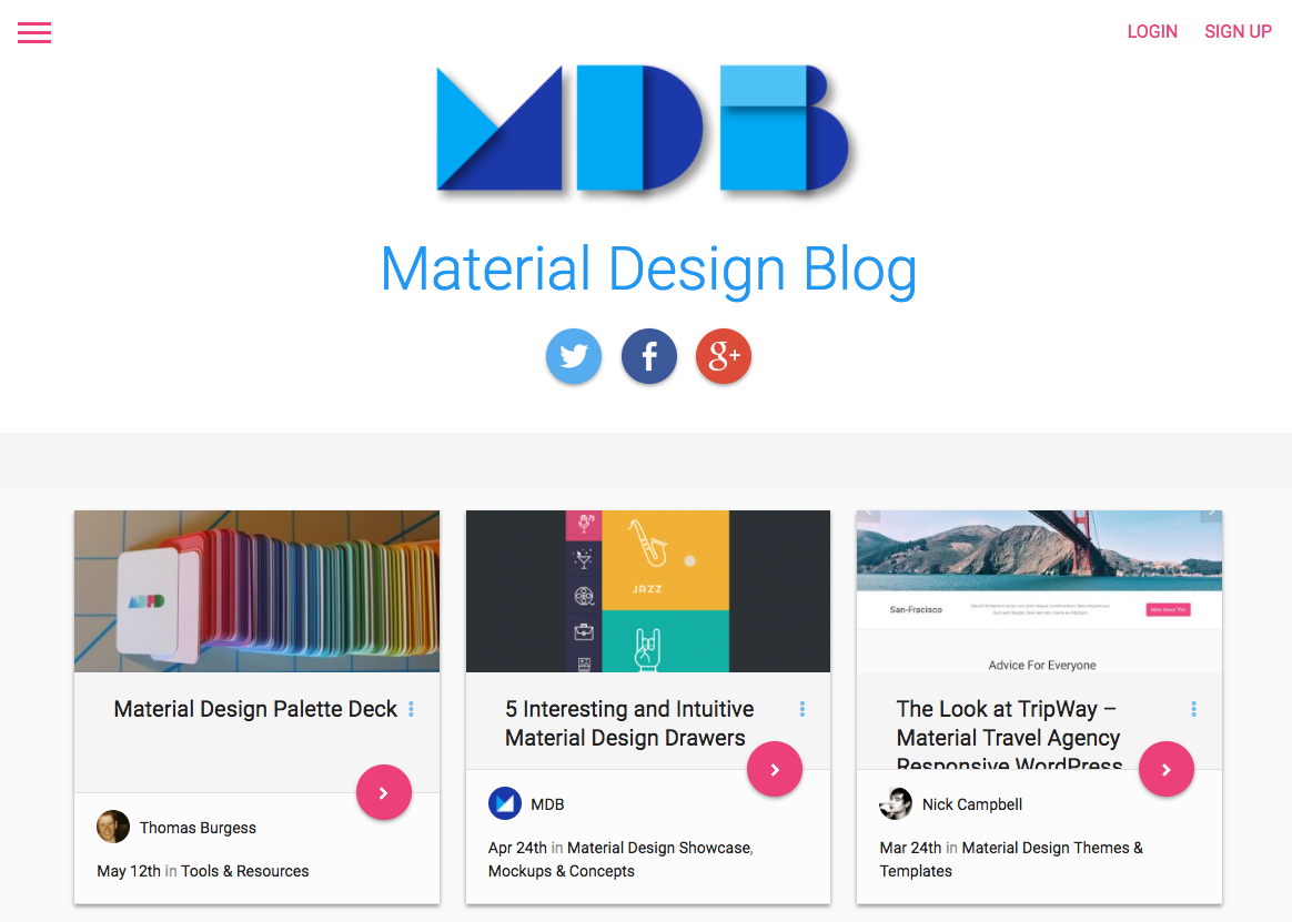 It Is All About Material Designs In Websites As Well As Apps And Templates.  You Can Find New Design Inspiration And Best Practices From This Blog Every  Day.