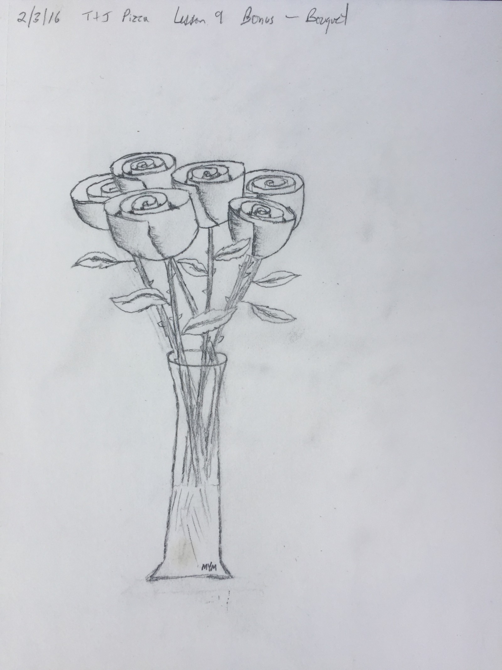My learn to draw adventure lesson 9 bonus lesson bouquet of roses izmirmasajfo