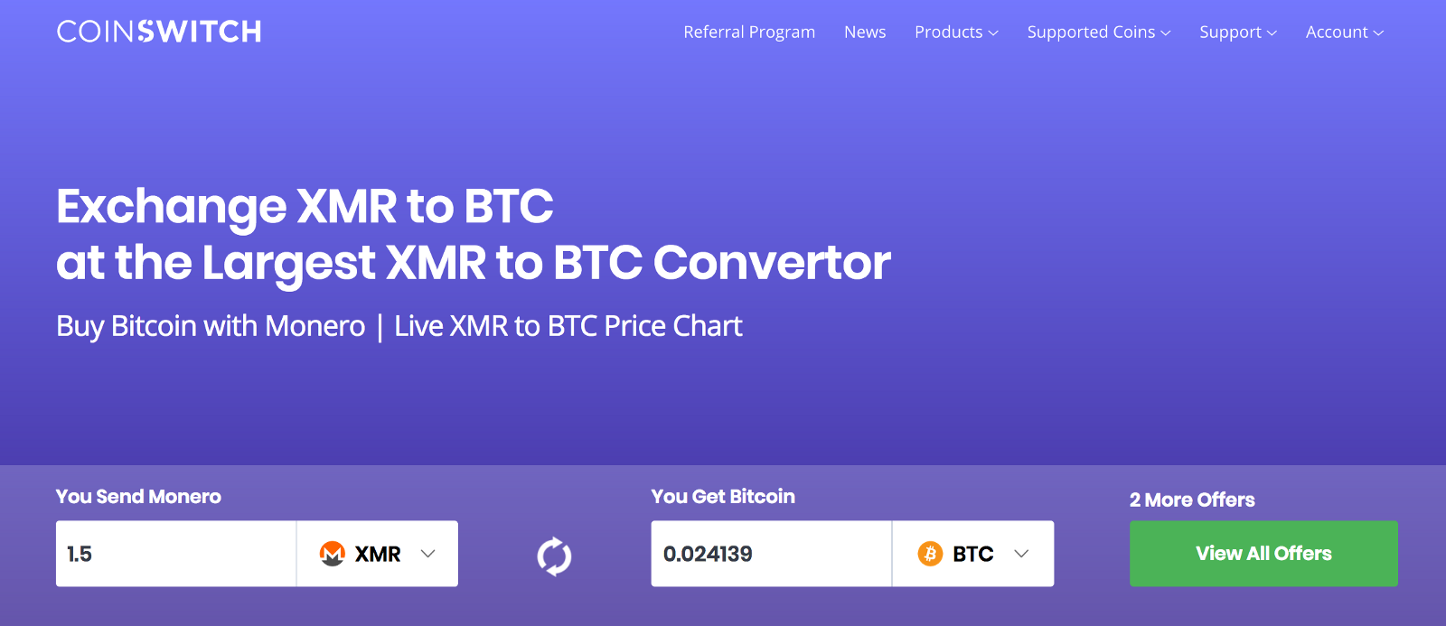 Here You Will See The List Of All Exchanges With Bitcoin Btc Quany They Are Offering Choose Best Exchange To Convert Monero Xmr