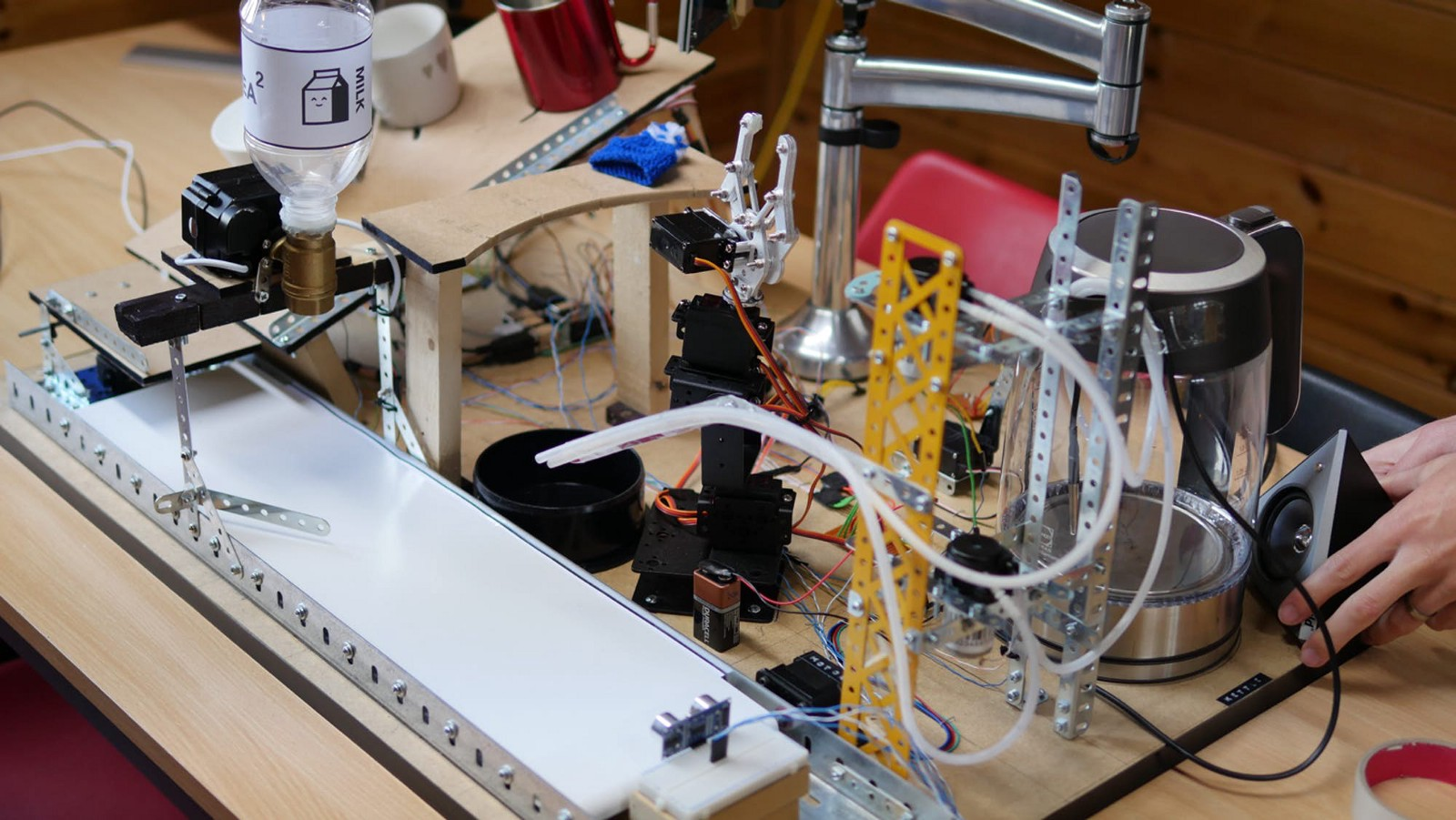 Nokia Brick Controlled Tea Making Robot Channels Doc Brown And Rube Electrical Wiring Goldberg